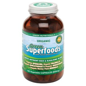 Organic Superfoods 600mg 120vc